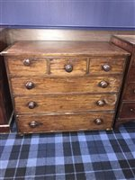 Lot 64-A MAHOGANY CHEST OF DRAWERS