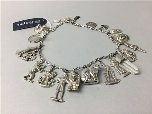 Lot 8-A CHARM NECKLACE WITH CHARMS
