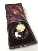 Lot 3-A VICTORIAN GOLD WATCH