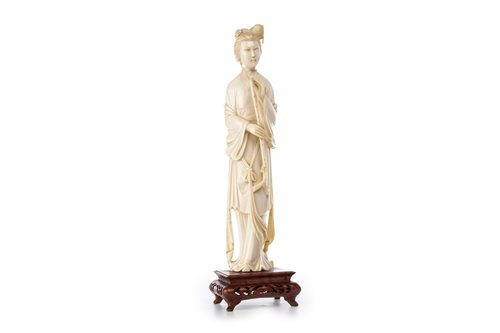 Lot 1009-A CHINESE IVORY FIGURE OF A FEMALE