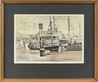 Lot 74-A PAIR OF HARBOUR SCENES, BY ROBERT SPRINGHAM