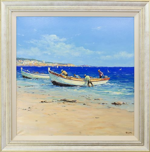 Lot 34-COMING ASHORE, BY ALLAN NELSON
