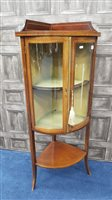 Lot 1722-AN EDWARDIAN 'SHERATON REVIVAL' CORNER DISPLAY CABINET