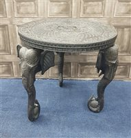 Lot 1015-AN INDIAN EBONISED TABLE