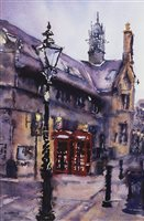 Lot 106-RED PHONE BOXES, BY KAREN CAIRNS