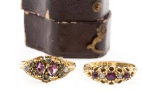 Lot 33-TWO VICTORIAN GOLD RINGS