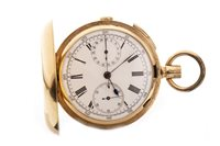 Lot 797-AN EIGHTEEN CARAT GOLD FULL HUNTER POCKET WATCH