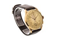 Lot 799-A GENTLEMAN'S GOLD CHRONOGRAPH SUISSE MANUAL WIND WRIST WATCH
