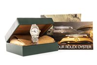 Lot 800-A LADY'S ROLEX OYSTER PERPETUAL DATEJUST WATCH
