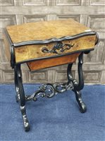 Lot 940-AN ATTRACTIVE 19TH CENTURY NEEDLEWORK TABLE