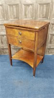 Lot 1725-A GENTLEMAN'S POST REGENCY DRESSING TABLE