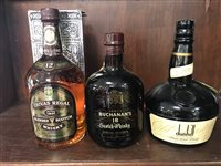 Lot 33-CHIVAS REGAL 12 YEARS OLD 1 LITRE, DUNHILL OLD MASTER 1 LITRE & BUCHANANS 18 YEARS OLD