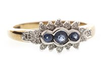 Lot 287-A SAPPHIRE AND DIAMOND RING