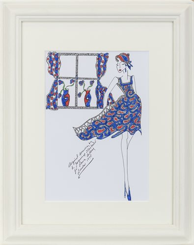Lot 51-AN ORIGINAL ILLUSTRATION FOR LAURA ASHLEY, BY ROZ JENNINGS