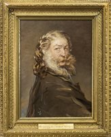 Lot 417-PORTRAIT OF SIR EDWIN HENRY LANDSEER, ATTRIBUTED TO THE ARTIST