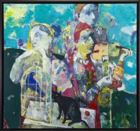 Lot 568-CONCERTO IN SCENERY, AN OIL BY ANDREI BLUDOV