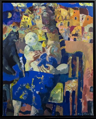 Lot 625 - MATERNITY, AN OIL BY ANDREI BLUDOV