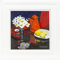 Lot 178-ANEMONES AND LEMONS, BY FRANK COLCLOUGH