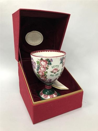 Lot 6-A WEMYSS/ROYAL DOULTON COMMEMORATIVE GOBLET
