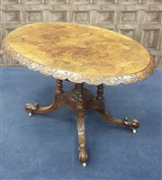 Lot 941-A VICTORIAN BURR WALNUT TIP-UP TABLE