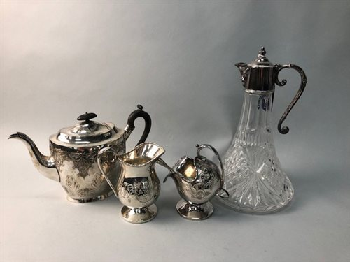 Lot 8-A LOT OF SILVER AND PLATED WARE