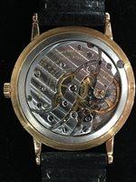 Lot 816-A GENTLEMAN'S PATEK PHILIPPE EIGHTEEN CARAT GOLD MANUAL WIND WRIST WATCH