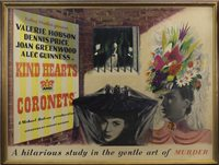 Lot 1665-A FRAMED 'KIND HEARTS AND CORONETS' FILM POSTER