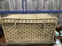 Lot 57-A LARGE WICKER HAMPER