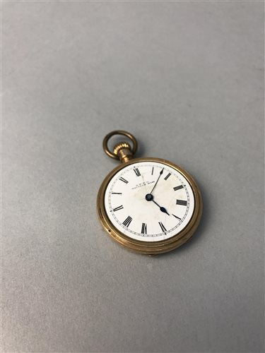 Lot 9-A GOLD PLATED FOB WATCH