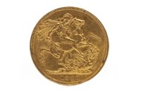 Lot 502-A GOLD SOVEREIGN, 1887