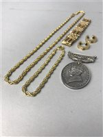 Lot 10-A GROUP OF GOLD AND COSTUME JEWELLERY