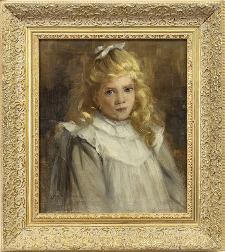 Lot 423-PORTRAIT OF A YOUNG GIRL