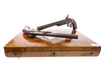 Lot 1668-A FINE CASED PAIR OF MID-19TH CENTURY PERCUSSION TARGET PISTOLS BY G. NAGEL OF BADEN