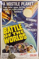 Lot 1737-A LARGE FILM POSTER FOR BATTLE OF THE WORLDS