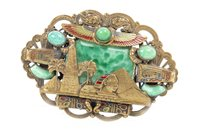Lot 1810-AN ATTRACTIVE EGYPTIAN REVIVAL BROOCH