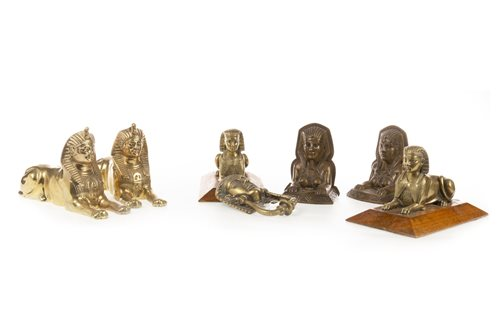 Lot 1817-A GROUP OF SPHINX MODELS