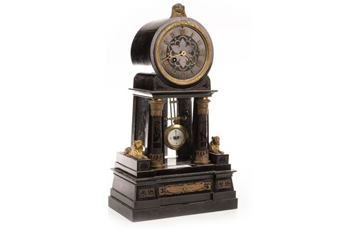 Lot 1839-A VICTORIAN MANTEL CLOCK