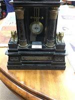 Lot 1839 - A VICTORIAN MANTEL CLOCK