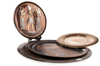 Lot 1841-A LARGE COPPER TRAY AND OTHER EGYPTIAN REVIVAL TRAYS