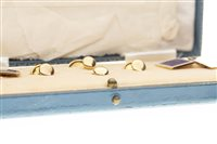 Lot 36-A CASED SET OF BLUE ENAMELLED CUFFLINKS AND STUDS