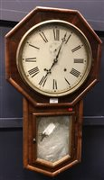 Lot 1424-A DROP DIAL REGULATOR WALL CLOCK