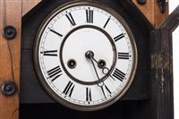 Lot 1427-AN ARCHITECTURAL MANTEL CLOCK