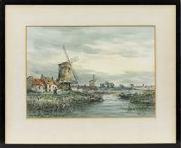 Image for A PAIR OF DUTCH CANAL SCENES, BY JOHN HAMILTON GLASS