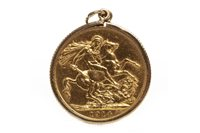 Lot 505-A GOLD SOVEREIGN, 1914