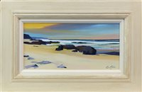 Lot 1-CROSS ROCKS, AN OIL ON CANVAS BY PAM CARTER