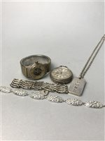 Lot 42-A COLLECTION OF WATCHES AND SILVER JEWELLERY