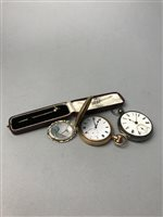 Lot 4-A VICTORIAN BROOCH, PIN AND TWO POCKET WATCHES