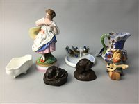 Lot 61-A LOT OF TWO HUMMEL FIGURES OF CHILDREN AND OTHER CERAMICS