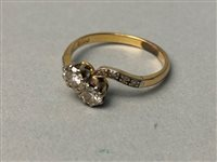 Lot 318-A MID TWENTIETH CENTURY DIAMOND TWO STONE RING