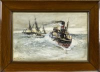 Lot 504-THE RESCUE, A GOUACHE BY FRANK H MASON